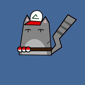 Ash (pokemon) Cat by Rjcham