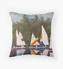 Myrick - Timberlake Sail Boats Throw Pillow