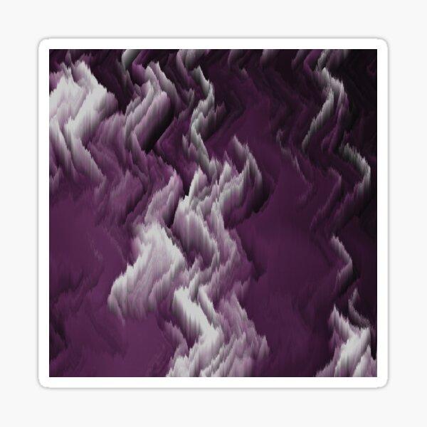 Purple, white, dark abstract. Sticker