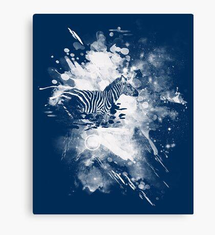 zebra splashed  Canvas Print
