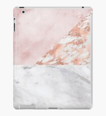 Mixed pinks rose gold marble iPad Case/Skin