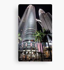 Petronas Towers by Night Canvas Print