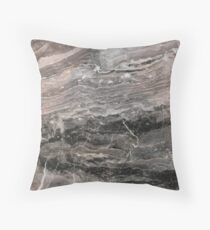 Smokey gray marble Throw Pillow