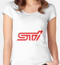 Subaru WRX STI logo Women's Fitted Scoop T-Shirt