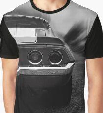 chevrolet camaro ss, camaro 1970, black and white Graphic T-Shirt