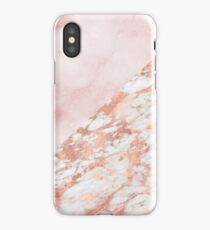 Rose gold & pinks marble iPhone Case