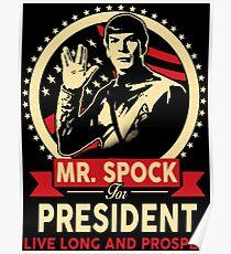 Spock for President Poster