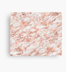 Solid rose gold marble  Canvas Print