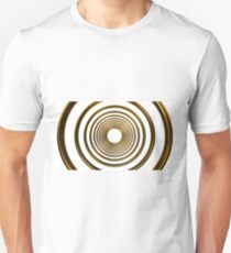 abstract futuristic circle gold pattern Unisex T-Shirt
