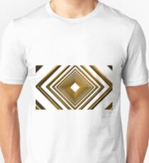 abstract futuristic square gold pattern Unisex T-Shirt