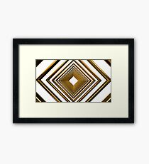 abstract futuristic square gold pattern Framed Print