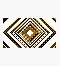 abstract futuristic square gold pattern Photographic Print