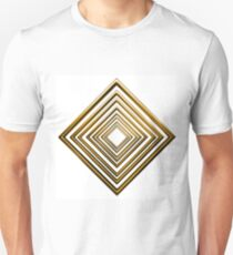abstract rhombus gold pattern Unisex T-Shirt