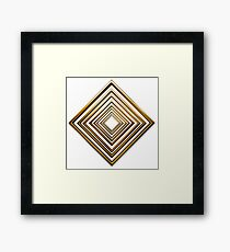 abstract rhombus gold pattern Framed Print