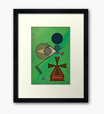 Crazy Golf Abstract Putting Framed Print