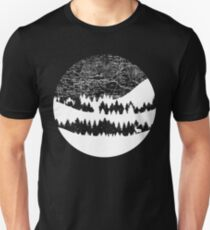 Map Silhouette Circle Unisex T-Shirt