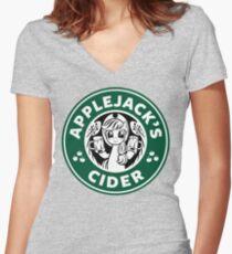 Applejack's Cider Women's Fitted V-Neck T-Shirt