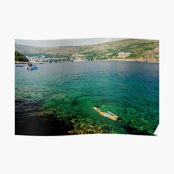 Swimming at Lokrum Island Poster