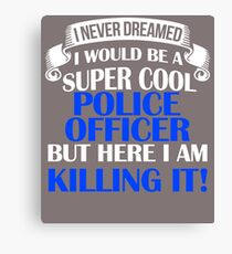 A Super Cool Police Officer  Canvas Print