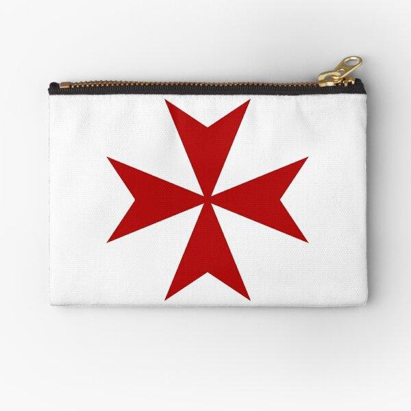 Maltese cross - Knights Templar - Holy Grail -  The Crusades Zipper Pouch