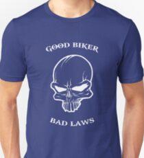Bikers t-shirt - good biker bad laws tee Unisex T-Shirt