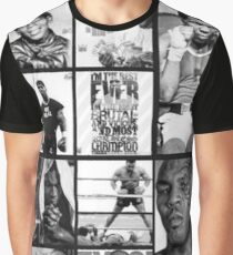 Iron Mike Tyson Collage  Graphic T-Shirt