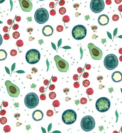Italian Food Illustration in Gouache Sticker