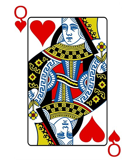 Queen of hearts playing card by jasonhoffman