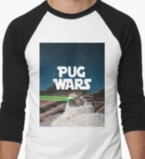 Pug Wars Men's Baseball ¾ T-Shirt