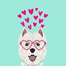 Westie west highland terrier white valentines day dog lover pet valentine by PetFriendly by PetFriendly