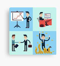 Successful Businessman Career Canvas Print