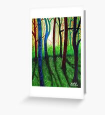'Blue Ridge Ruminations #3' Greeting Card