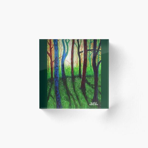 'Blue Ridge Ruminations #3' Acrylic Block