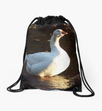 Peaceful goose Drawstring Bag