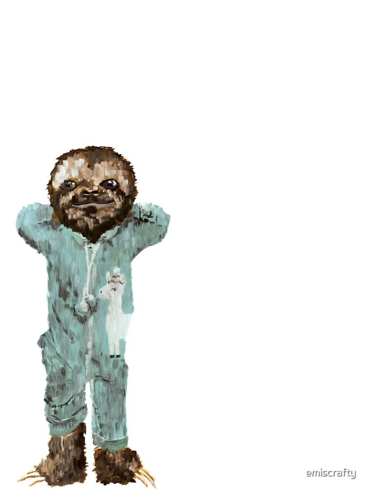 Baby Sloth in Onesie Pajamas by emiscrafty