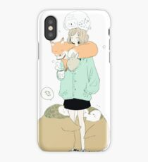 winter flock. iPhone Case