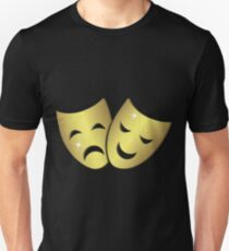 Theater masks: happy and sad faces Unisex T-Shirt