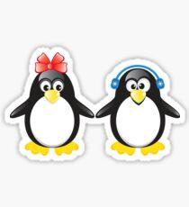 Pair of cute penguins Sticker