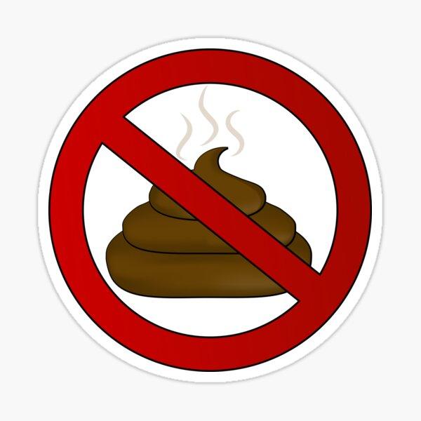 no dog poop sign illustration Sticker