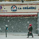 Snowy Day in Downtown Montreal by Valerie Rosen