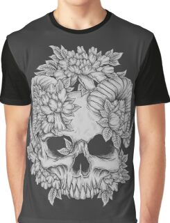 Japanese Skull Graphic T-Shirt