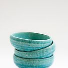 Turquoise Tea Cups by Skye Hohmann