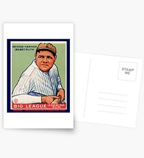 Babe Ruth Baseball Card Graphic Postcards