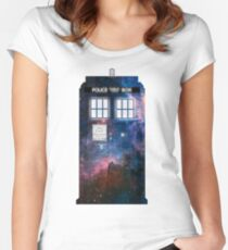 Space Tardis 1 Women's Fitted Scoop T-Shirt