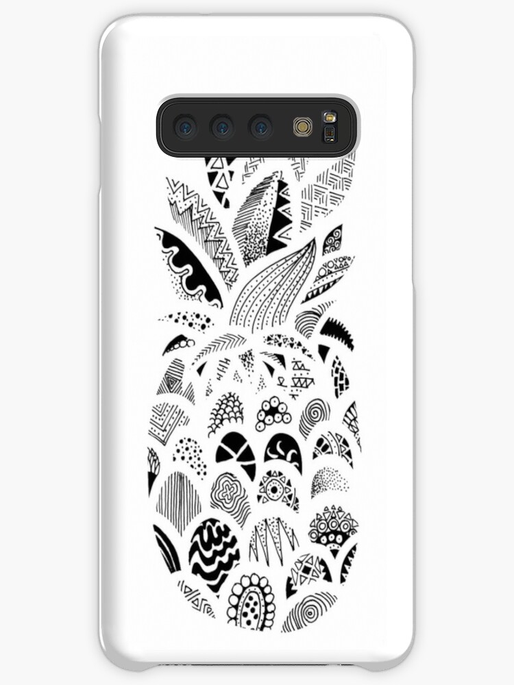 'Zentangle Pineapple' Case/Skin for Samsung Galaxy by Miguel Sarmiento Perea
