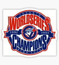 Toronto Blue Jays World Series Sticker