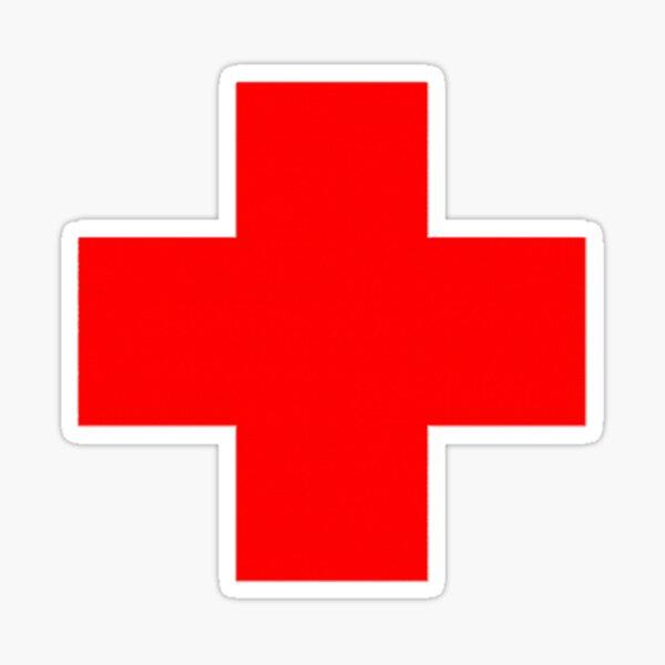 Cruz Roja Pegatina