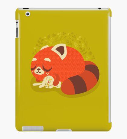 Sleeping Red Panda and Bunny iPad Case/Skin