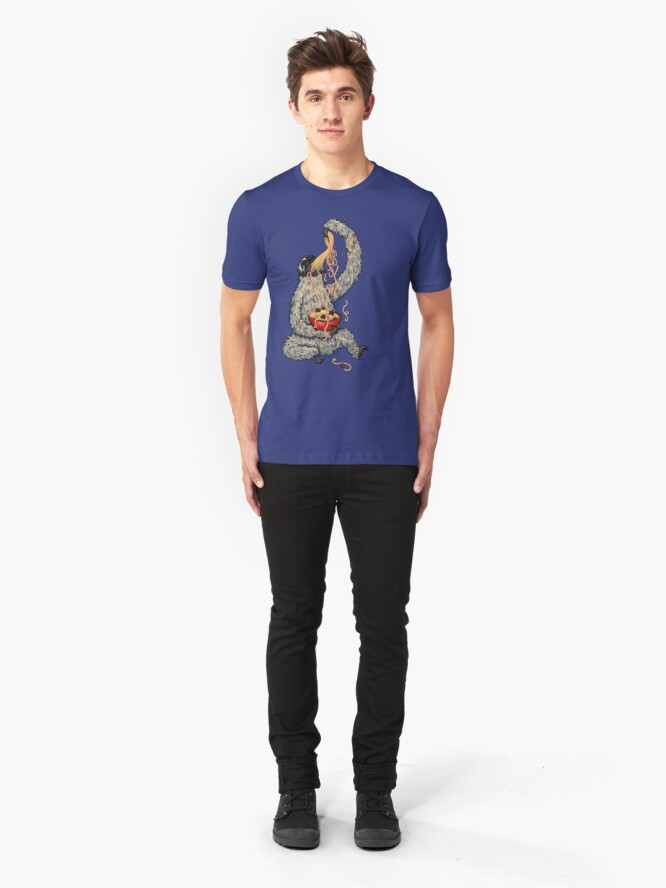 Alternate view of A Sloth Eating Spaghetti Slim Fit T-Shirt