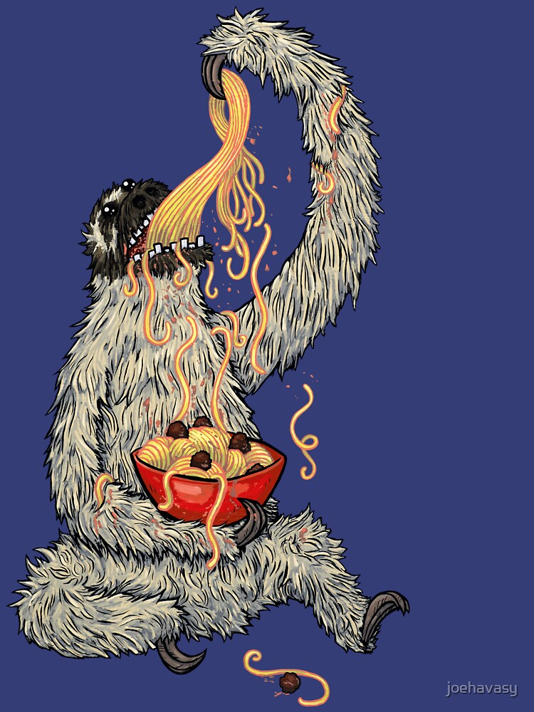 A Sloth Eating Spaghetti by joehavasy